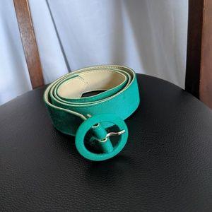 Vintage Green Circle Loop Cloth Belt
